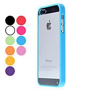 Para Funda iPhone 5 Transparente Funda Cubierta Trasera Funda Un Color Dura Policarbonato iPhone SE/5s/5