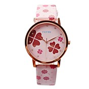 Mujer Reloj de Vestir Cuarzo PU Banda Flor Múltiples Colores # 2 # 3 # 4 # 5 # 6