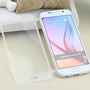 Para Funda Samsung Galaxy con Ventana / Flip / Transparente Funda Cuerpo Entero Funda Un Color TPU Samsung S6
