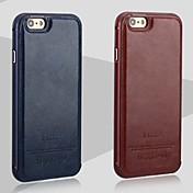 아이폰 7 플러스 아이폰 6 / 6S에 대한 새로운 다시 고급 가죽과 금속 프레임 전화 케이스