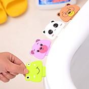 aseo de dibujos animados de maniobras de izado baño dispositivo de tapa del inodoro baño inodoro portátil soporte del asiento plegable (de