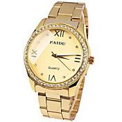 여성의 시계 패션 다이아몬드 다이얼 골드 스틸