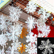 30pcs navidad nieve copos adornos copo de nieve blanco casa del partido del festival decoración fiesta del árbol de navidad décor