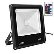 Proyector ligero impermeable al aire libre del color teledirigido ac85-265v 30w rgb / proyector llevado 1pc