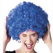 인조 합성 가발 캡 없음 중 컬리 블루 흑인 가발 흑인여성 제품 코스플레이 가발 의상 가발