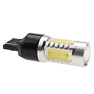 T20 (7440,7443) Carro Branco 7W LED de Alta Performance 6000-6500 Luz de Travão Luz de marcha atrás Foco Alto Rendimento