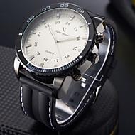 V6 Herren Sportuhr Militäruhr Modeuhr Armbanduhr Quartz Japanischer Quartz Großes Ziffernblatt Silikon Band Cool Schwarz Weiß Schwarz
