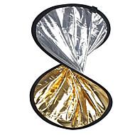 """24 """"2'si 1 arada gümüş altın disk katlanabilir Reflektör 60cm"""