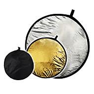 """32 """"2'si 1 arada gümüş altın disk katlanabilir Reflektör 80cm"""