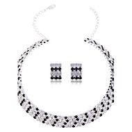 lureme žena višeslojne kristal nakit set (ogrlica i naušnice ovratnik)