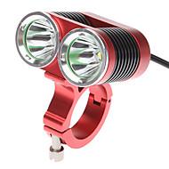 Kerékpár világítás Kerékpár első lámpa LED Cree XM-L T6 Kerékpározás Újratölthető 18650 2400 Lumen Akkumulátor Kerékpározás