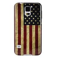 Voor Samsung Galaxy hoesje Hoesje cover Ultradun Patroon Achterkantje hoesje Vlag TPU voor Samsung S5