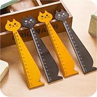 kat vorm houten liniaal (willekeurige kleur)