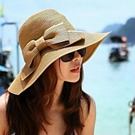 Mujer Sombrero de Paja Casual-Verano-Paja