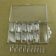 10x10pcs MIXS koko läpinäkyvä puoli kynsikoristeet ranskalainen vinkkejä