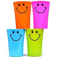 multifunctionele glimlach gezicht plastic tandenborstel beker 360ml (willekeurige kleur)
