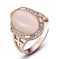 여성의 ROXI 절묘한 장미 황금 타원형 진주 반지 도금