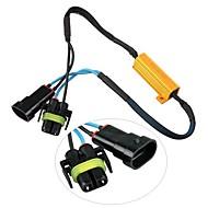 2pcs h11 h8 levou transformar resistor singal 50w 6ohm erro canbus livre para bmw audi