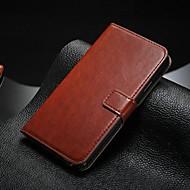 Voor Samsung Galaxy Note Kaarthouder / met standaard / Flip hoesje Volledige behuizing hoesje Effen kleur PU-leer SamsungNote 5 / Note 4