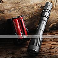 LED taskulamput Käsivalaisimet LED 2000 Lumenia 5 Tila Cree XM-L T6 Säädettävä fokus Zoomable varten Telttailu/Retkely/Luolailu