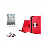 360-Grad-drehende Standplatzlederkasten intelligente Abdeckung für iPad2 3 4 Funktion + Schutz Stift