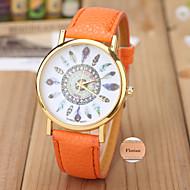 Analóg - Bőr - Fehér / Piros / Narancssárga / Rózsaszín - Női - Watch - Személyre szabott ajándékot