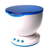 LED-nachtlampje projector oceaan blauwe zee golven projectielamp met mini speaker