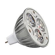3w MR16 210-245lm lämmin / viileä valo lamppu led kohdevalo (12v) 1kpl