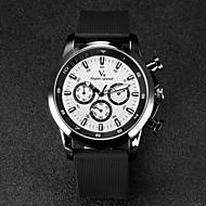 V6 Herren Armbanduhr Quartz Japanischer Quartz Caucho Band Schwarz Weiß Schwarz Schwarz/Rot Schwarz/Orange Schwarz/Blau