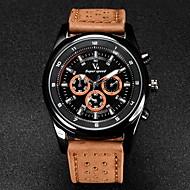 V6 Herren Armbanduhr Quartz Japanischer Quartz Leder Band Schwarz Braun Khaki Weiß Schwarz Braun Khaki