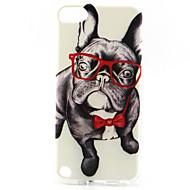 briller hund maleri mønster TPU blød taske til iPod Touch 5