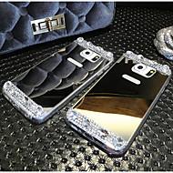 hoge kwaliteit galvaniseren gespiegeld met diamant terug te dekken voor Samsung Galaxy note4 / note5 (diverse kleuren)
