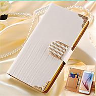 Para Samsung Galaxy Capinhas Carteira / Porta-Cartão / Com Strass / Flip Capinha Corpo Inteiro Capinha Cor Única Couro PU SamsungS7 edge
