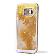 Για Samsung Galaxy Θήκη Ρέον υγρό tok Πίσω Κάλυμμα tok Λάμψη γκλίτερ PC Samsung S6 edge plus / S6 edge / S6 / S5 / S4 / S3