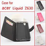 Varten Acer kotelo Korttikotelo / Tuella / Flip / Magneetti Etui Kokonaan peittävä Etui Yksivärinen Kova Tekonahka varten Acer