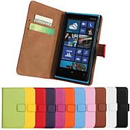 Na Etui Nokii Etui na karty / Portfel / Z podpórką Kılıf Futerał Kılıf Jeden kolor Twarde Skóra PU NokiaNokia Lumia 1020 / Nokia Lumia