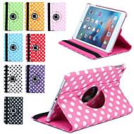 luxus nyomtatási pöttyös 360 forgási műbőr tok Apple iPad mini tablet 3/2/1 Smart Cover flip-esetek állvánnyal