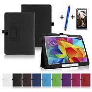 Voor met standaard / Automatisch aan/uit / Flip hoesje Volledige behuizing hoesje Effen kleur Hard PU-leer Samsung Tab 4 10.1
