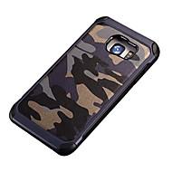 camouflage pu leer zacht TPU siliconen schokbestendige case voor Samsung Galaxy S5 / s6 / s6edge / s6edge plus / S7 / S7 edge / S7 plus