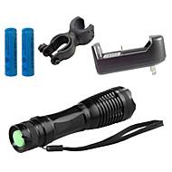 ZK10 LED taskulamput Laturit LED 4000 Lumenia 5 Tila Cree XM-L T6 1 x 18650 akku Säädettävä fokus Iskunkestävä Lipsumaton kädensija