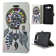 Mert Samsung Galaxy tok Pénztárca / Kártyatartó / Állvánnyal / Flip Case Teljes védelem Case Álomvadász Műbőr SamsungTrend Duos / J5 / J1