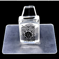 1set vierkante transparante nagel stempel gereedschap nagel set