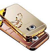 bling metalen aluminiumlegering spiegel acrylaat Cover Case voor Samsung Galaxy J5 / J7 / e7 / i9060 / G530 / g7106