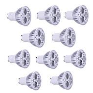 10pcs 5w gu10 / gu5.3 / e27 / e14 800lm 따뜻한 / 멋진 빛 램프 led 스포트 라이트 (85-265v)