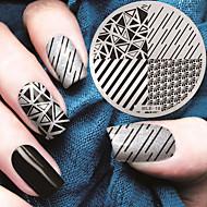 2016 nieuwste versie mode image geometrische patroon nail art stempelen template platen