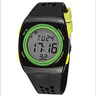 SYNOKE Herre Sportsklokke Armbåndsur Digital Watch Digital LCD Kronograf Vannavvisende alarm Selvlysende Plast Band Svart Hvit Blå