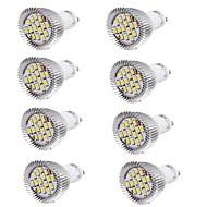 Youoklight 8pcs gu10 6w ciepły biały biały 450-500lm 15smd 5630 led spotlight ac 85 ~ 265v