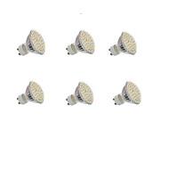 5W GU10 LED Σποτάκια Χωνευτή εγκατάσταση 60 SMD 3528 300LM lm Θερμό Λευκό / Ψυχρό Λευκό Διακοσμητικό AC 220-240 / DC 12 V 6 τμχ