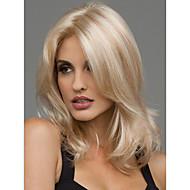 Vrouw Synthetische pruiken Middel Golvend Blond Middenscheiding Natuurlijke pruik Kostuumpruiken