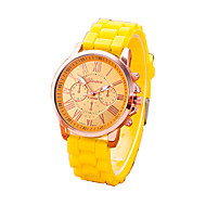 Dames Modieus horloge Armbandhorloge Kwarts Vrijetijdshorloge Rubber Band camouflage Zwart Wit Rood Orange Bruin Groen Roze Geel